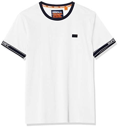 Superdry OL Pique Cali Ringer tee Camiseta, Blanco (Optic 01c), XS para Hombre