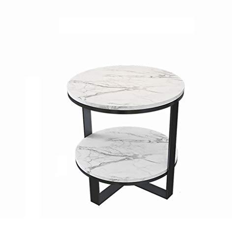 LICHUAN Mesa de centro moderna redonda mesa de café de mármol patas de metal adornan muebles mesa de café, marco de metal, utilizado para muebles de sala de estar, mesa de café, mesa de café