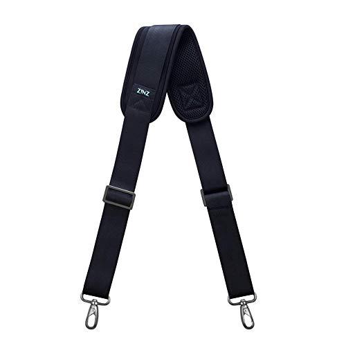 "ZINZ Shoulder Strap, 57"" Padded Adjustable Shoulder Bag Straps Replacement for Bags with D-Ring (Black, 001)"