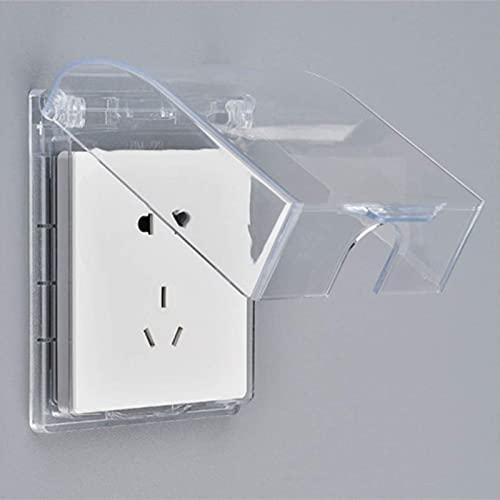 Enchufe de pared de 3 piezas Caja de enchufe a prueba de agua de 3 piezas Toma de corriente con 3 agujeros 86 Tipo de enchufe de panel de luz Cubierta de tapa abatible / Enchufe de interruptor de par