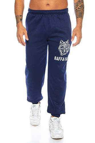 Raff&Taff Męskie spodnie Winter Wolf M – 4XL   spodnie sportowe, dresowe, piżamy, duże rozmiary, spodnie funkcyjne, spodnie treningowe, spodnie do joggingu   bawełna premium