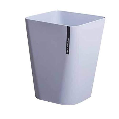 Yuxahiugljt Papelera Rectangular Papelera Can, Pequeño contenedores de Basura Papelera for baños, Polvo de Salones, cocinas, oficinas en casa - Resistente a los Golpes de plástico