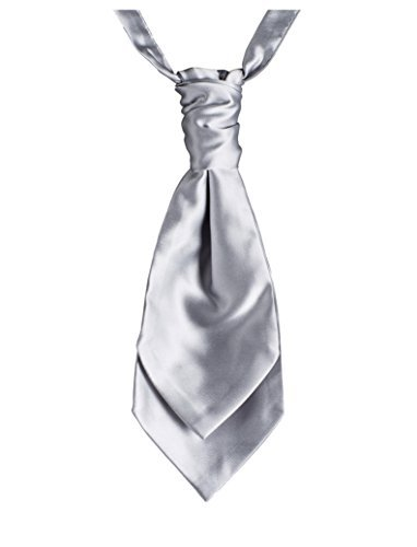 Paisley de Londres et foulards cravates, en bandes pour homme Argenté - Argent, Medium (8-13yrs)