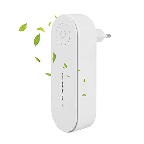 Plug-in-Luftreiniger, MOPOIN Mini Air Purifier Leiser Betrieb Luftwäscher für Haustierallergene, Raucherzimmer, Apartment Schlafzimmer Küche Toilette