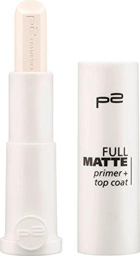 p2 cosmetics Lippenstift full matte primer + top coat, 4 g (1er Pack)