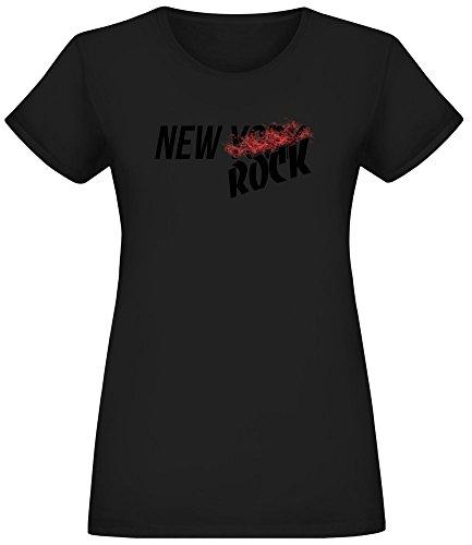 Damen Team Color wei/ß ICER Brands Damen Jersey T Mesh Varsity Stripe Tee Shirt Wei/ß Medium Jersey T-Shirt Mesh Varsity Stripe Tee Shirt