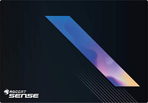 Roccat Sense Vital Force Hybrid Gaming Mauspad - Höchstmaß an Präzision, extra stark vernähter Rand, gummierte Unterseite, hochwertiges Material (400 mm x 280 mm x 2 mm), Schwarz