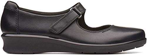 Clarks Hope Henley, Mocasines para Mujer, Negro (Black Leather), 37 EU