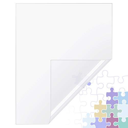 Sumind 8 Piezas Películas y Palo de Protectora de Rompecabezas Hoja de Pegamento de Rompecabezas Transparente Cubierta Adhesiva de Rompecabezas