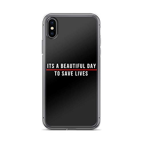 joyganzan Its A Beautiful Day to Save Lives White Lettering Case Cover Compatible for iPhone (XR)