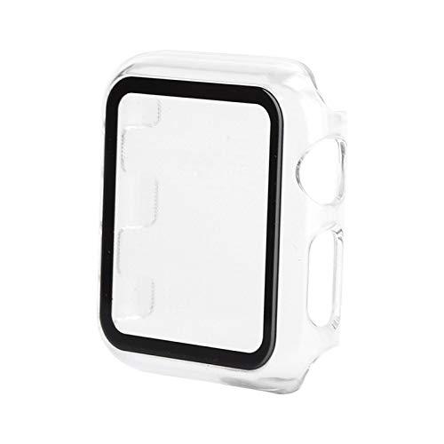 Protector de pantalla Protector de pantalla Funda Protección de 360 ° para APPLE IWATCH Espalda hueca Transparente Toques fáciles(38mm)