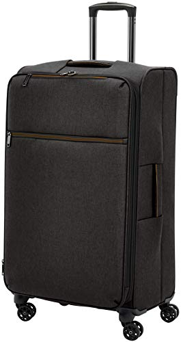 AmazonBasics Belltown Softside Rolling Spinner Suitcase Luggage - 31 Inch, Heather Black