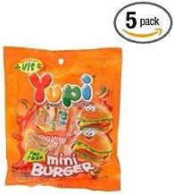 Five Packs Of Gummy Hamburger Candies