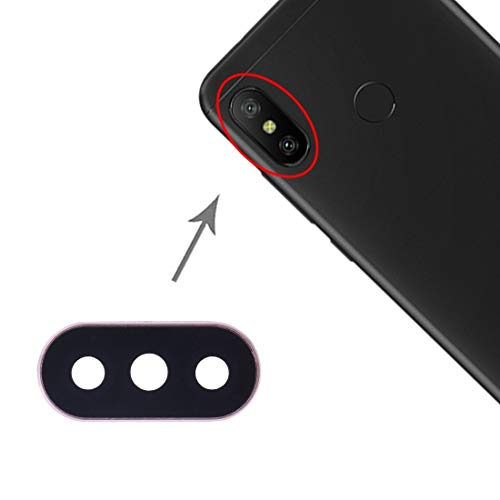 DaiMai 10 piezas cubierta de lente de cámara para Xiaomi Redmi 6 Pro/MI A2 Lite (negro) WH (color: dorado)