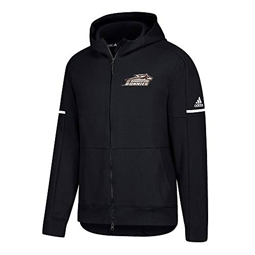 adidas St. Bonaventure Brown Indians NCAA Men's 2017 Primary Team Black Squad ID Full Zip Jacket (X-Large)