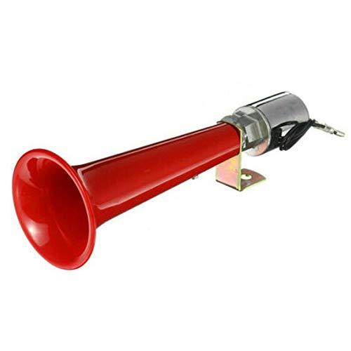 Trompeta de cuerno de aire súper ruidoso universal de 12 / 24V Altavoz 180DB Para coche, camión, barco, tren, rojo (compresor no incluido)