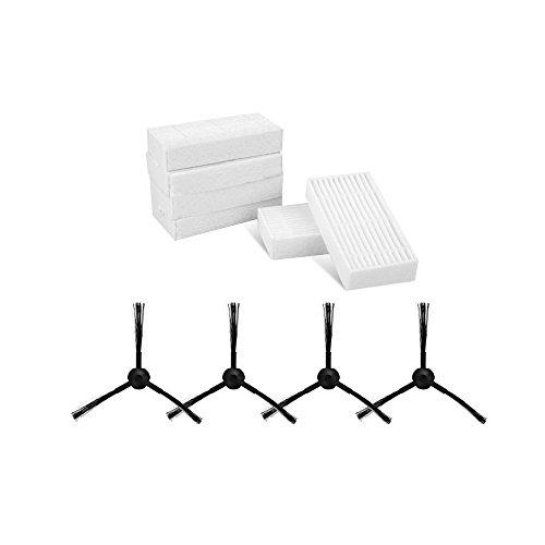 6 Filter Für ILIFE V3 V3S PRO V5 V5S V5S PRO Saugroboter Home 6 Seitenbürsten