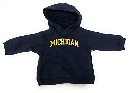 Michigan Wolverines NCAA Infant Navy Pull Over Hooded Sweatshirt - 12 Months