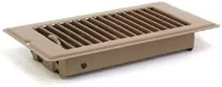 UNITED STATES HDW V056IB V-056IB Metal Mobile Home Floor Register with Damper to Adjust Air Flow