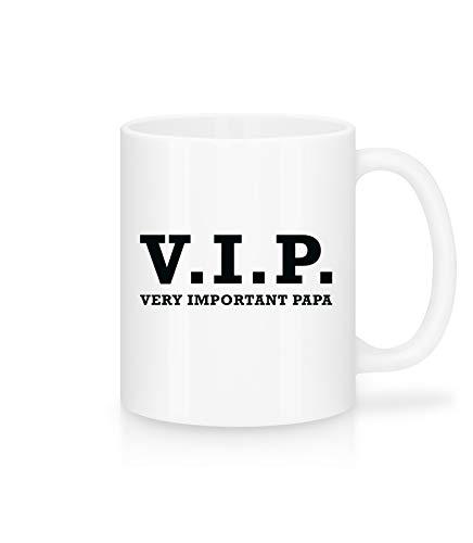 Shirtinator Papa Tasse mit Spruch I VIP Very Important Papa I Geburtstag Vatertag-sgeschenk Geschenkideen für (Stief-) Vater