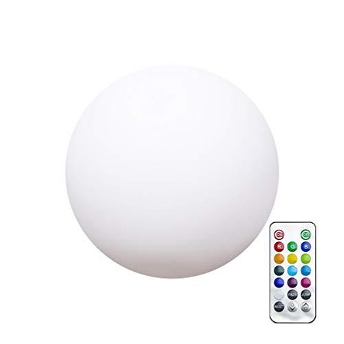 Uonlytech - Lámpara LED multicolor RGB con mando a distancia, bola redonda impermeable, lámpara de mesa para salón, dormitorio, patio o suelo