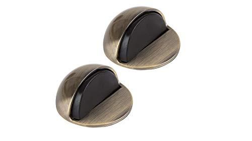 LouMaxx Türstopper Boden selbstklebend - 2er Set Tür Stopper Antik-Messing-Optik - Türstopper kleben - Bodentürstopper selbstklebend - Effektiver Design Türstopper selbstklebend