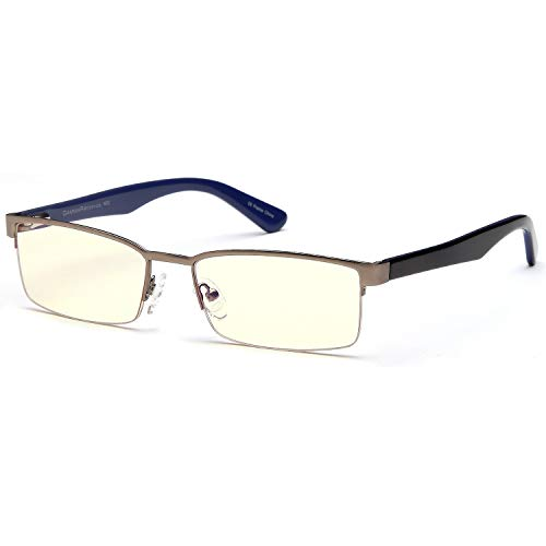 Buy Gamma Ray Blue Light Blocking Glasses - Amber Tint - Anti Glare Eye Strain for Computer Gaming T...