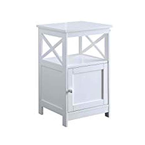 Convenience Concepts Oxford End Table with Cabinet, White