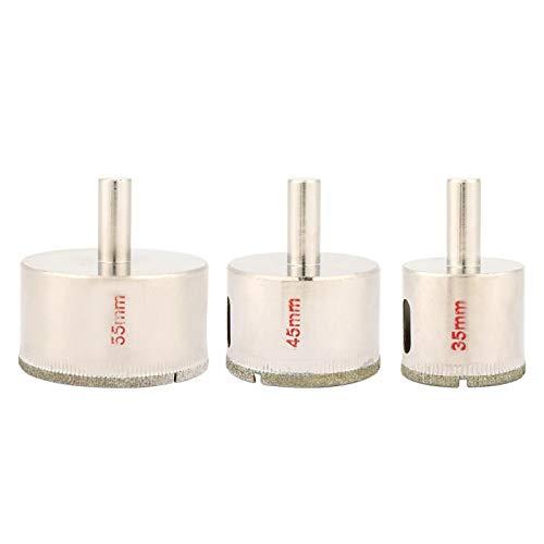 Broca para taladro, 35 mm 45 mm 55 mm Broca para perforar baldosas de cerámica, mármol, granito, hormigón y otros materiales duros