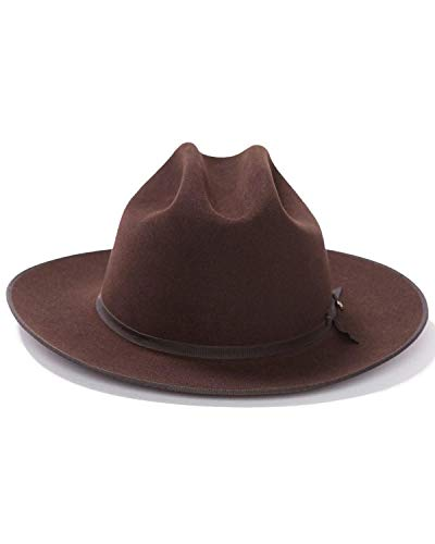 Stetson Men's 6X Open Road Fur Felt Cowboy Hat Chocolate 7 3/8