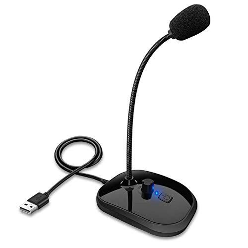 KOEY Micrófono USB para PC, Micrófono PC Micrófono de Condensador Computadora USB Plug & Play, Micrófono Profesional de Escritorio Compatible con PC/Windows/Mac/PS4