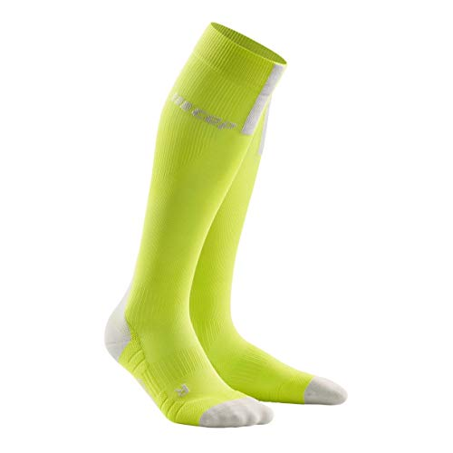 CEP Herren Run 3.0 Socke, lime/light grey, III