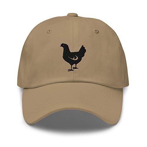 joystore247 Chicken Embroidered Dad Hat, Chicken Gifts, Unisex Style, Chicken Decor Khaki