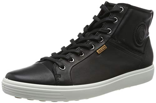 Ecco Damen SOFT7W High-Top Sneaker, Schwarz (BLACK 1001), 38 EU
