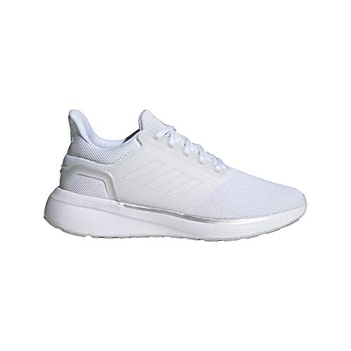 adidas EQ19 Run, Zapatillas de Running Mujer, FTWBLA/FTWBLA/Plamet, 42 EU