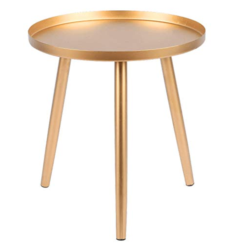 LILISHANGPU Table d'appoint Table Basse en métal, Table d'appoint de canapé de Salon Moderne Petite Table à Manger Table de Chevet de Chambre à Coucher (Color : Gold, Size : 36 * 36 * 38cm)