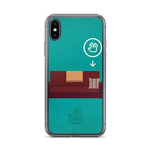 Gladiour Compatibile con iPhone 11 12 PRO Max XR 6/7/SE 2020 Custodia Big Bang Theory TV Shows Series Pure Clear Phone Cases Protezione Antiurto Cover
