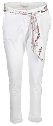 iSilk Damen Hose mit Zierband Größe L Weiß (weiß)