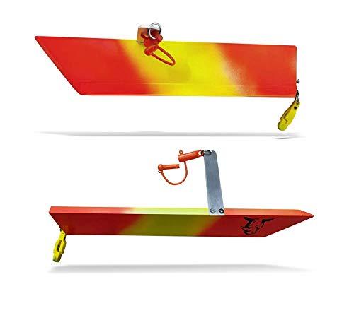Rhino Sideplaner SL Paar, Scherbrett, 2 Stück jeweils eins für Rechts und Links, Material Aluminium und Schaumstoff, Länge 35cm Gewicht 139g