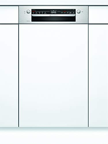 Bosch SPI2IKS10E Série 2 Lave-vaisselle partiellement intégré/A+ / 45 cm/acier inoxydable / 22 kWh/an / 9 MGD/séchage supplémentaire/panier à couverts Vario/Home Connect