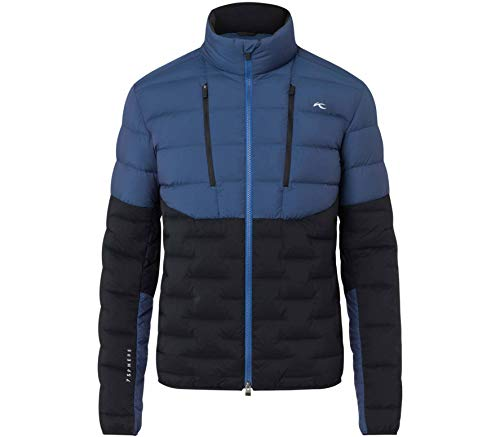 KJUS Men 7sphere II Hybrid Jacket Colorblock, Herren Daunen Jacke, Größe 48 - Farbe Southern Blue - Black