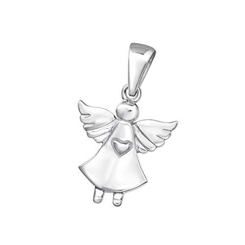 Kleiner Engel Anhänger Silber 925 Schutzengel Kettenanhänger für Kinder