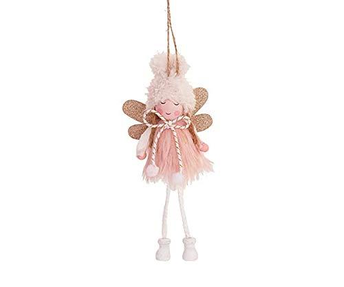 tono su tono Angioletto per Albero di Natale da Appendere Fatina Decorazione Natalizia Rosa e Oro