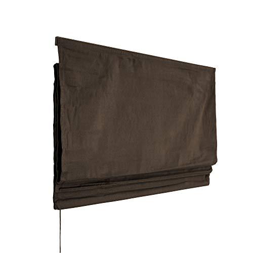Victoria M. Estor Plegable, Cortina Plegable paqueto - Klemmfix (fijación sin taladrar) 140 x 240cm, marrón