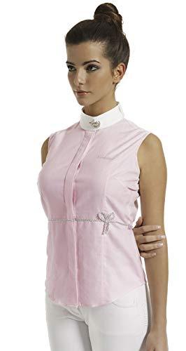 Tattini Camicia Smanicata Donna L, Colore Celeste con Colletto Bianco