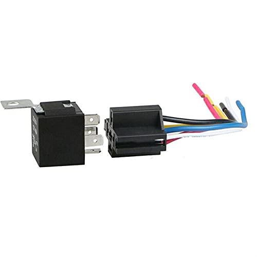 LCBIAO® 5 PIN 40A Relé de coche a prueba de agua Life Long Life Automotive DC Relés Luz de aire 12V / 24V Fit para la cabeza Relé Ajuste para ABIERTE Normalmente acondicionador V4I3 ( Color :