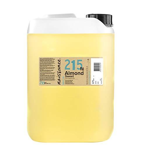 Naissance Huile d'Amande Douce (n° 215) – 5 litres – 100% naturelle, végan, sans OGM – inodore, parfaite pour les massages, les cheveux et la peau