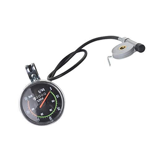 Julymall Classic Retro Fahrrad-Entfernungsmesser-omputer Kilometerzähler Stoppuhr Wired Tachometer für 28 / 29inch Tachometer Zubehör (Black)