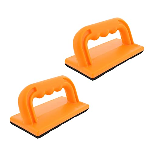 DCT Wood Cutting Push Up Stick Block 2-Pack Set – Angle Handle Foam Pad Holder Blocks for Cutting on Jointer, Table Saw