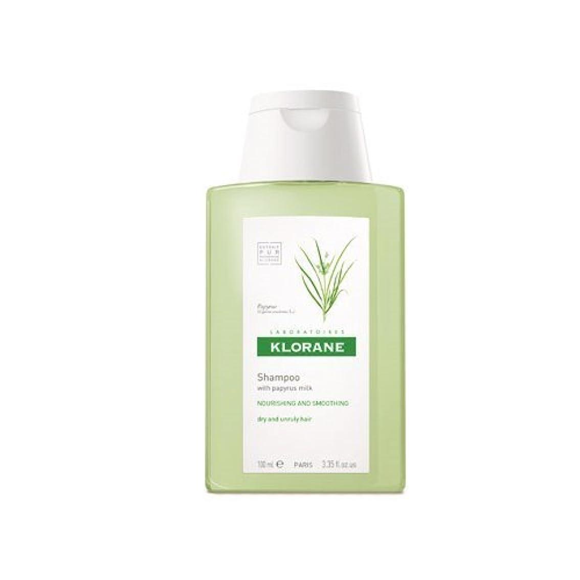 スズメバチ摂氏願望Klorane Shampoo with Papyrus Milk, 3.35 oz Travel Size by Klorane [並行輸入品]